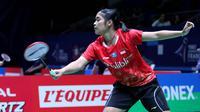 Tunggal putri Indonesia, Gregoria Mariska Tunjung, melaju ke babak kedua Prancis Terbuka 2018, Selasa (23/10/2018). (PBSI)