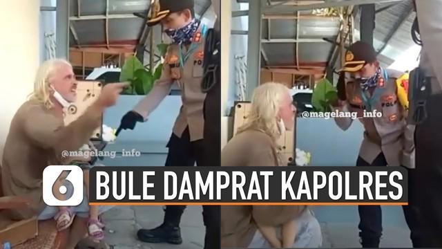 Beredar video menunjukkan bule yang sedang marah-marah ketika akan dikarantina oleh petugas. Dikabarkan bule tersebut sedang ada permasalahan terkait anaknya.