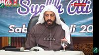 Syekh Ali Jaber saat berdakwah. (Yayasan Syekh Ali Jaber via YouTube Syekh Ali Jaber)