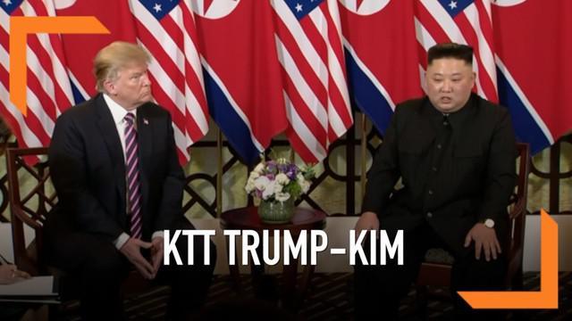 Gedung Putih mengatakan tidak ada kesepakatan yang dicapai antara Trump dan Kim. Agenda makan siang yang dijadwalkan mendadak batal di menit-menit terakhir.