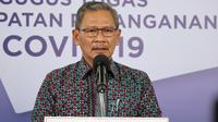 Juru Bicara Pemerintah untuk Penanganan COVID-19 Achmad Yurianto saat konferensi pers Corona di Graha BNPB, Jakarta, Senin (6/7/2020). (Dok Badan Nasional Penanggulangan Bencana/BNPB)