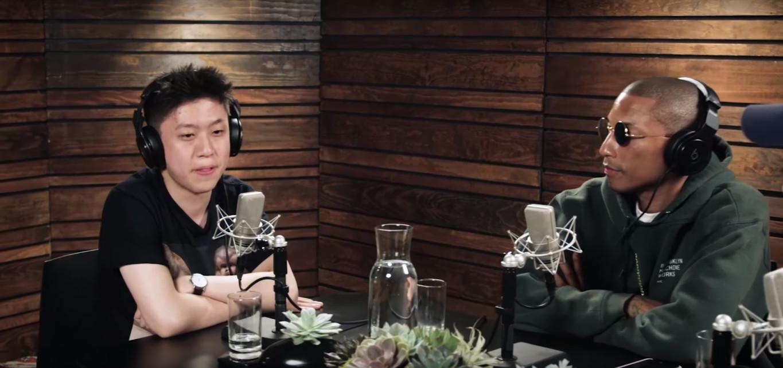 Rich Chigga dan Pharrell Williams saat siaran di radio Beats 1 milik Apple Music. (iamOTHER)