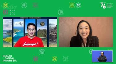 Menparekraf Sebut Rumah Digital Indonesia Jadi Etalase untuk Promosikan Wisata Indonesia