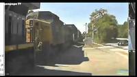 Sebuah bus dihantam kereta api di suatu persimpangan di kawasan East Point di kota Atlanta di negara bagian Georgia, Amerika Serikat.