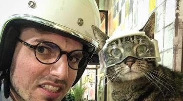 Kisah Cathode, Kucing yang Suka Lakukan Olahraga Ekstrem Bersama Pemiliknya