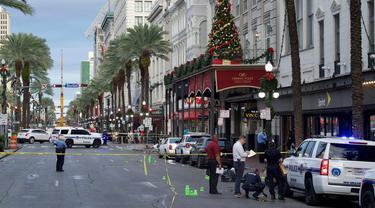 Penembakan massal terjadi di New Orleans, AS.
