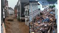 Banjir di Jerman (Sumber: Twitter/@diemitdemblubb/@ianbremmer)