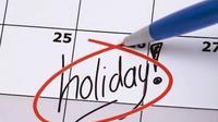 Tandai kalendar untuk menyiapkan liburan