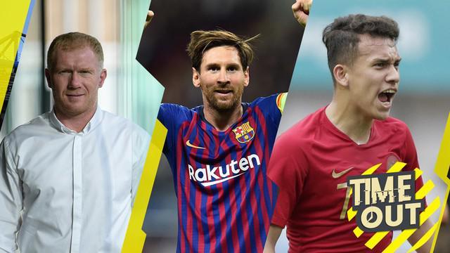 Berita video time out yang membahas kemungkinan Lionel Messi pergi dari Barcelona dan 5 pemain andalan Timnas Indonesia U-19 di Piala AFC U-19 2018.