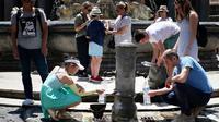 Ilustrasi gelombang panas yang melanda Eropa (AFP/Alberto Pizzoli)