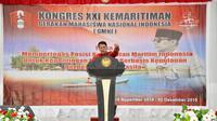 Ketua Persatuan Alumni GMNI yang juga Wakil Ketua MPR RI, Ahmad Basarah dalam pidato Pembukaan Kongres ke XXI GMNI di Ambon pada Kamis (28/11).