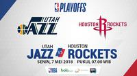 Playoff 2018  Utah Jazz Vs Houston Rockets_Game 4 (Bola.com/Adreanus Titus)