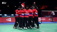 Indonesia Juara Thomas Cup 2020. (Sumber: Instagram/badminton.ina)