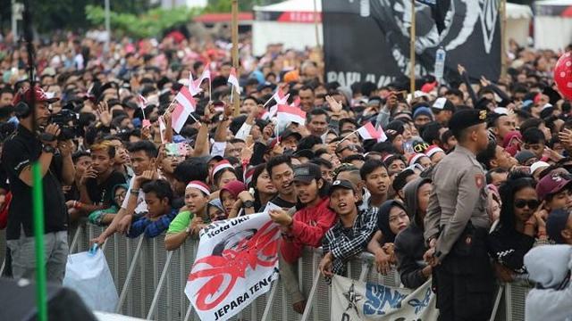 Lautan Manusia Dalam Apel Kebangsaan Di Semarang