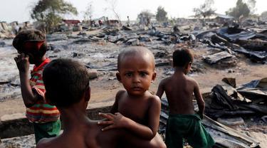 Anak-anak etnis Rohingya (Twitter/Khaled Beydoun)