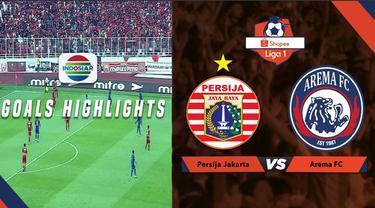 Berita video gol-gol yang tercipta saat Persija Jakarta menjamu Arema FC dalam lanjutan Shopee Liga 1 2019, Sabtu (3/8/2019).