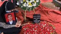Aldha Refa usai pemakaman suaminya, Okky Bisma (dok.instagram/@aldharefa/https://www.instagram.com/p/CKBTUxlBTwW/Komarudin)