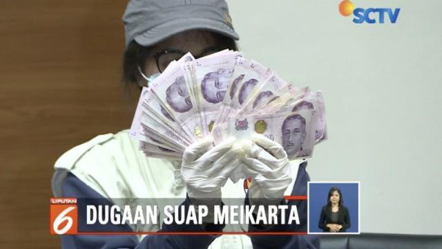 Enam tersangka kasus suap izin proyek Meikarta resmi ditahan KPK selama 20 hari.