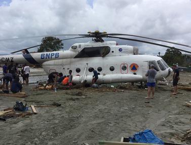 Rumah hingga Helikopter Terseret Banjir Bandang Sentani