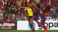 Wimba Sutan Fenosa, striker Persik. (Bola.com/Gatot Susetyo)