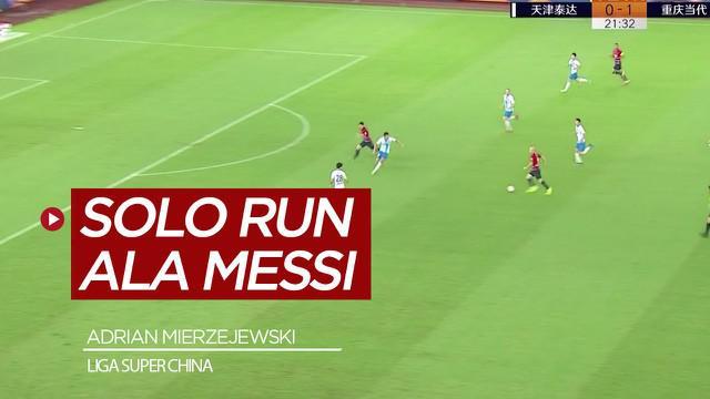 Berita Video Pemain Liga Super China Ini Cetak Gol Spektakuler Ala Lionel Messi