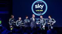Konferensi pers peluncuran tim Moto2 dan Moto3 milik Valentino Rossi, Sky VR46 Racing Team di Milan, Italia, Jumat (10/2/2017). (Sky VR46 Racing Team)