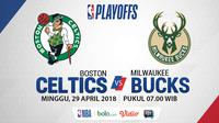 NBA Playoff 2018 Boston Celtics Vs Milwaukee Bucks Game 7 (Bola.com/Adreanus Titus)