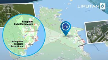 Banner Infografis Merancang Ibu Kota Baru di Kalimantan Timur