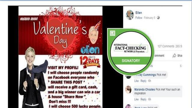 Cek Fakta Hoaks Ellen Degeneres Bagi Bagi Hadiah Valentine Lewat
