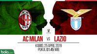 Coppa Italia - AC Milan Vs Lazio (Bola.com/Adreanus Titus)