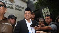 Ketua GNPF-MUI Bachtiar Nasir tiba di Polda Metro Jaya, Jakarta, untuk diperiksa sebagai saksi kasus dugaan makar, Rabu (1/2). (Liputan6.com/Immanuel Antonius)