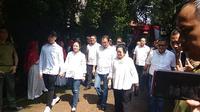 Presiden ke-5 RI Megawati Soekarnoputri menuju TPS. (Liputan6.com/ Nafiysul Qodar)