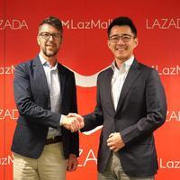 Pierre-Yves, Managing Director, Southeast Asia, L'Oreal dengan Jing Yin, President, Lazada Group