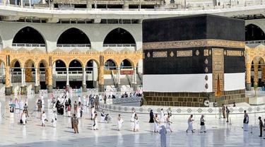 Muslim mulai ritual Haji 2021 pada 17 Juli 2021. (Twitter @reasahaharamain)