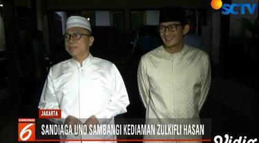 Usai pertemuan, Sandiaga mengaku kedatangannya sebatas mempererat tali silaturahmi dengan Zulkifli Hasan.