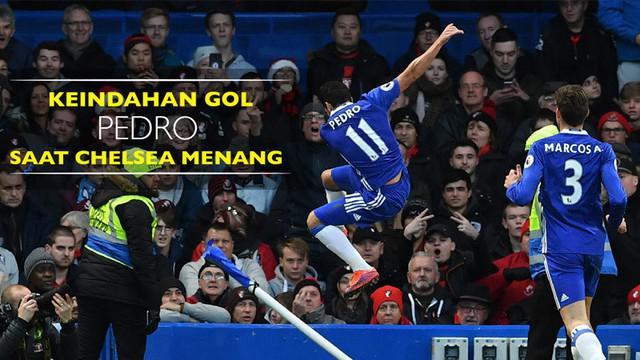 Video keindahan gol gelandang Chelsea, Pedro Rodriguez, ke gawang Bournemouth saat Boxing Day Premier League, Senin (26/12/2016).