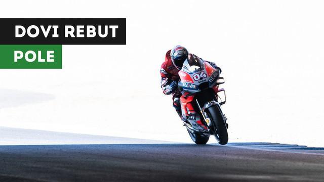 Pebalap Ducati, Andrea Dovizioso akan start terdepan pada MotoGP Jepang, Minggu (21/10/2018)