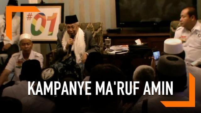 Cawapres Jokowi Ma'ruf Amin bertemu dengan tim kampanye daerah Jokowi-Ma'ruf di kediamannya. Tim memberi masukan kepada Ma'ruf Amin sebelum menggelar kampanye di sejumlah daerah