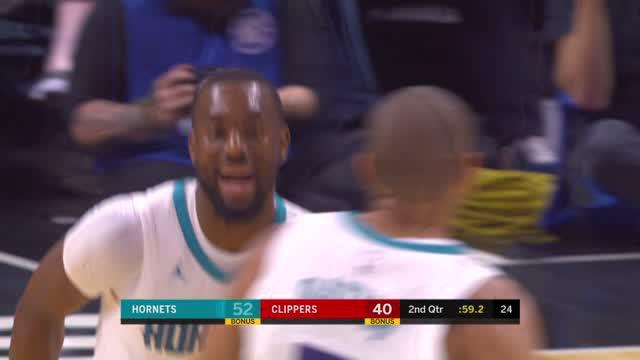 Berita video game recap NBA 2017-2018 antara LA Clippers melawan Charlotte Hornets dengan skor 106-98.
