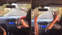 Joget ala TikTok saat menyetir (Sumber: Twitter/txtdarigajelas)