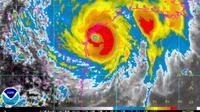 Badai Harvey masuk kategori 4 dan mulai mendekati daratan (Twitter/@NHC_Atlantic)