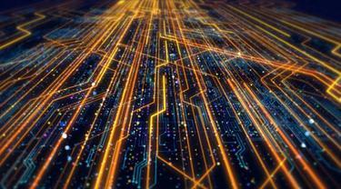 Ilustrasi jaringan teknologi.