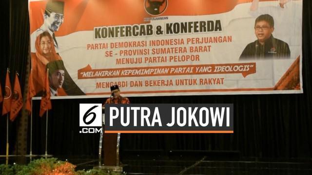 Sekjen Partai Demokrasi Indonesia Perjuangan Hasto Kristiyanto menanggapi mencuatnya nama 2 putra Presiden Joko Widodo dalam bursa calon Wali Kota Solo.