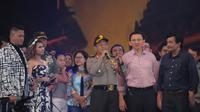 Kapolda Metro Jaya merayakan malam tahun baru di Ancol (Herman Zakaria/Liputan6.com)