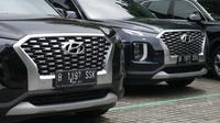 Desain grill all new Hyundai Palisade bikin tampilan mobil makin gagah (Arief A / Liputan6.com)