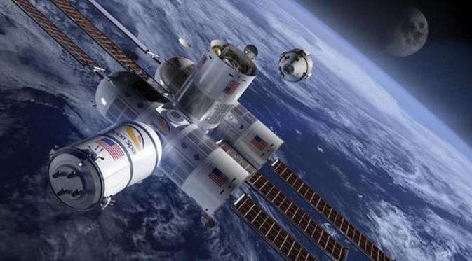 Ilustrasi Aurora Station, hotel luar angkasa pertama di dunia. (Foto: Orionspan.com)