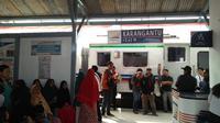 Stasiun Karangantu, sebuah stasiun tua bersejarah yang menjadi titik pusat kegiatan railclinic PT KAI. (foto : Liputan6.com / Yandhi Deslatama)