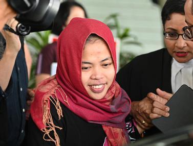 Ekspresi Siti Aisyah Usai Bebas dari Kasus Pembunuhan Kim Jong-nam