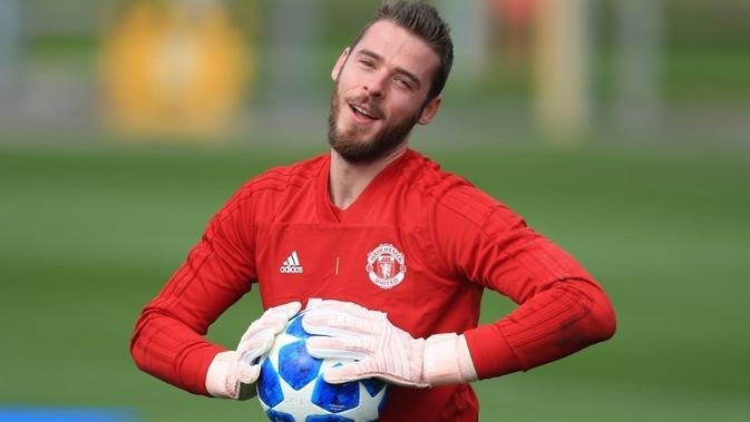 Penjaga gawang Manchester United asal Spanyol, David de Gea. (AFP/Lindsey Parnaby)