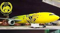 Bocoran pesawat khusus untuk Timnas Malaysia yang disediakan Malaysia Airlines. (Instagram/@theaseanfootball)